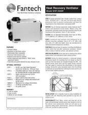 Buy Honeywell fantech shr2005rguide Operating Guide by download Mauritron #316778