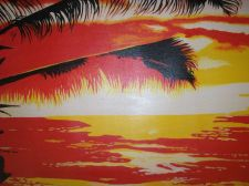 Buy Sunrise Beach Painting on canvas ready to hang. finished off by hand. original