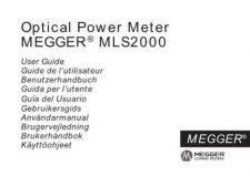 Buy Megger MLS2000 Operating Guide by download #336246