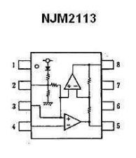 Buy NJM2113M SMT Low-Voltage Audio Power Amplifier IC (4-Pieces)