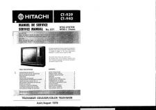 Buy Hitachi CT945 Service Manual by download Mauritron #285181
