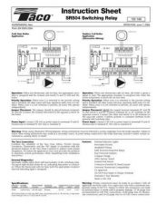 Buy Honeywell taco sr504manual Operating Guide by download Mauritron #317139