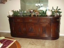 Buy Antique Gatsby Era, Buffet Sideboard Server Console Hand Carved Walnut Original