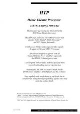 Buy Musical Fidelity HTP ENG Operating Guide by download #333398
