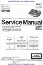 Buy Philips CDM1 Service Manual in Dutch by download Mauritron #306176