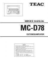 Buy Teac MC-DX220iDAB Service Manual by download Mauritron #319441