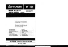 Buy Hitachi CT1958-1 Service Manual by download Mauritron #289489