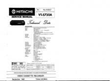 Buy Hitachi VTS751A Service Manual by download Mauritron #285936