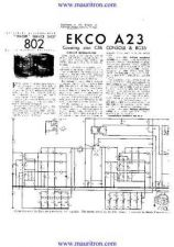Buy EKCO. A23 Service Sheets Set. by download Mauritron #314796