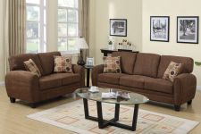 Buy Modern Living room sofa couch 2 Pc sofa and loveseat furniture In 4 Colors F7539