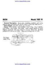 Buy BUSH VHF91 Wireless SERVICE SHEETS by download Mauritron #324891