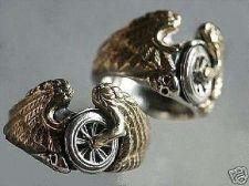 Buy Flying Winged Wheel,Skull Ring Sterling Silver