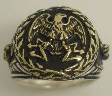Buy Imperial Roman Eagle mens signet ring Sterling Silver