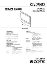 Buy Sony KLV-S26-32-40A10 Service Manual by download Mauritron #332961