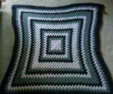 Buy Vintage Hand Made Crochet KNIT QUALITY SEWN Afghan BLANKET Quilt