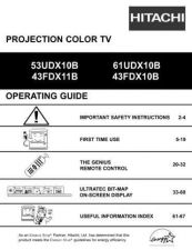Buy Hitachi 61SWX12B Service Manual by download Mauritron #288489