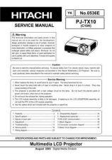 Buy Hitachi PJ-LC7_EL Service Manual by download Mauritron #290690