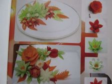 Buy Fruit Carving Book Begin Learn Veg Hand Carved Flower Shaped Plates Decor in Eng
