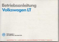 Buy Volkswagen LT 1989VWLTOwnersHandbookGermanWM by download #333749