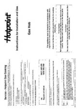 Buy Hotpoint HBBG02 Operating Guide by download Mauritron #312068