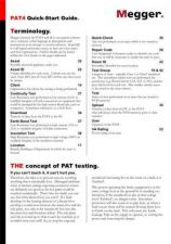 Buy AVO PAT4 Quickstart Operating Guide by download Mauritron #309175