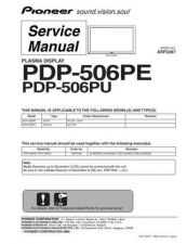 Buy Pioneer PDP501 Service Manual by download Mauritron #323691