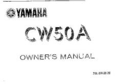 Buy Yamaha 3SL-28199-20 Scooter Manual by download #334168