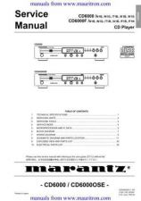 Buy Marantz CD6000 OSE Service Manual by download Mauritron #306118
