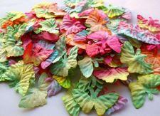 Buy 100 Mulberry Paper Butterfly Artificial Wedding Embellishment Craft Scrapbook