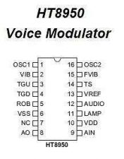 Buy IC - HT8950 Voice Modulator IC (DIP-16)