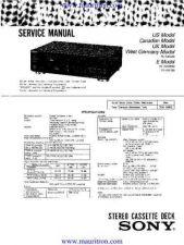 Buy Sony TC-K222ESG-K850ES Service Manual by download Mauritron #326341