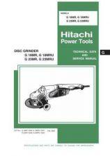 Buy Hitachi G23MRU Tool Service Manual by download Mauritron #320014