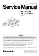 Buy Panasonic T7735UA_UAB Manual by download Mauritron #301802