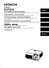Buy Hitachi PJTX10W_ZH Service Manual by download Mauritron #290757