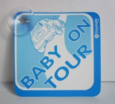 "Buy CAR SIGN W/SUCTION CUP BABY ON TOUR BLUE/WHITE POLYMATE 5""X5"" FREESHIP NEW"