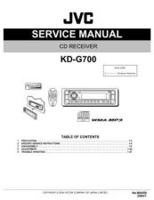 Buy JVC KD-G700 Service Manual Circuits Schematics by download Mauritron #275015