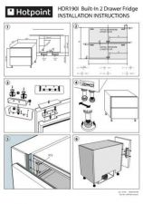 Buy Hotpoint HDR190i-install Refrigeration Operating Guide by download Mauritron #313777