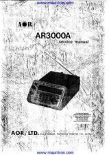 Buy AOR AR3000A Manual by download Mauritron #326386