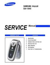Buy Samsung SGH-X640 Mobile Phone Service Manual by download Mauritron #306474