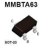 Buy SMT Transistor - MMBTA63 PNP Darlington Amplifier (SOT-23) - 20 Pieces
