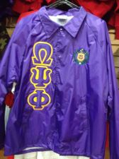 Buy Omega Psi Phi Purple Line Jacket with Shield and Greek Letters - Size 3XL