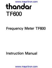 Buy Thandar TF600-User-Manual by download Mauritron #327191