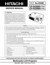 Buy Hitachi CP-RS56_RX61_2 Service Manual by download Mauritron #289110
