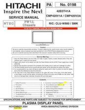 Buy Hitachi PA0198 Service Manual by download Mauritron #331916