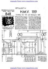 Buy HMV. 1119. Service Sheets Set. by download Mauritron #306048