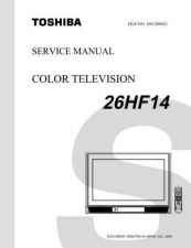 Buy Toshiba 26HF14SVM Service Manual by download Mauritron #333163