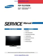 Buy Samsung PS42C7XET Service Manual by download Mauritron #322802