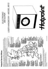 Buy Hotpoint Electronic 800 Plus 9513 Washer Operating Guide by download Mauritron #30752