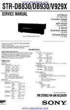 Buy SONY. STRDB930 Mauritron Manual by download Mauritron #319258