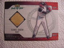Buy GAME USED BAT card UPPER DECK MVP Ken Griffey Jr 2001